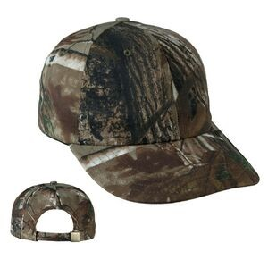 Unstructured Real Tree Baseball Cap w/ Fabric Strap - Embroidered
