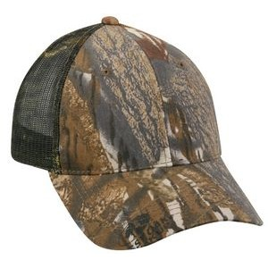 6 Panel Camo Brown Cap with Mesh Back