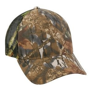 5 Panel Camo Brown Cap with Mesh Back