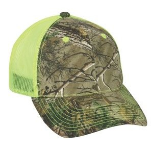 Camo Assorted Neon Mesh Back Cap