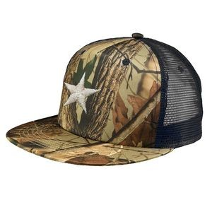 Twill Mesh Trucker Caps with Camouflage and Mesh Back